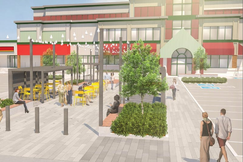 While primarily a parking space, the new design of Churchill Square in St. John's will also include areas for pedestrians, as shown in this illustration from the City of St. John's Re-imagine Churchill Square Concept Plan. — CONTRIBUTED