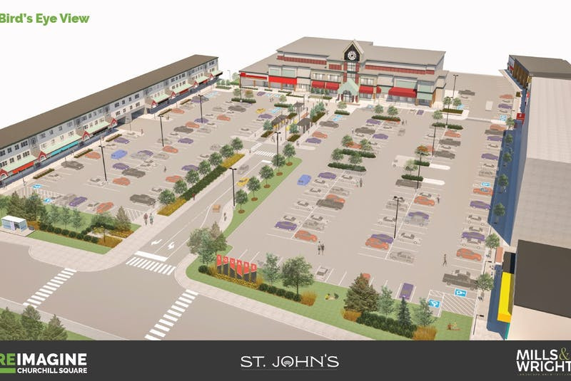 This illustration from St. John's city council's Re-imagine Churchill Square Concept Report shows what the space will look like after the revamp. — CITY OF ST. JOHN'S/CONTRIBUTED