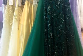 Alyssa's Formals, located in Lower Sackville and Sydney, N.S. has been selling and ordering in prom gowns steadily since September. The number of gowns sold is up this year compared to last year.