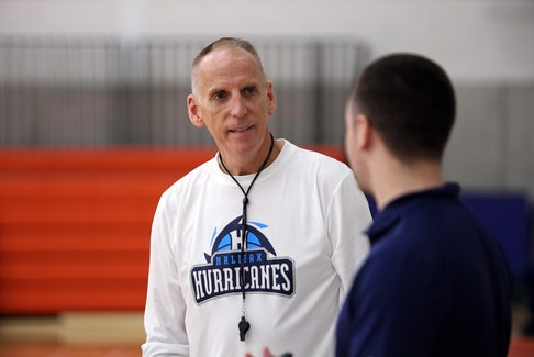 """Halifax Hurricanes head coach Mike Leslie said """"there's some hope and potential"""" for the National Basketball League of Canada beginning in December. - Eric Wynne"""