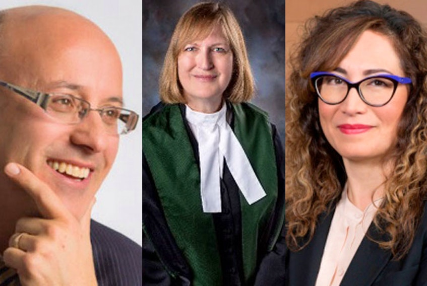 Three judges were appointed to the Supreme Court of Nova Scotia on April 7, 2021. From left, Justice Lloyd I. Berliner and Justice Jean M. DeWolfewill sit on the Supreme Court (Family Division) and Justice Gail L. Gatchalian will sit on the Supreme Court (General Division). - Courtesy of the Nova Scotia Judiciary