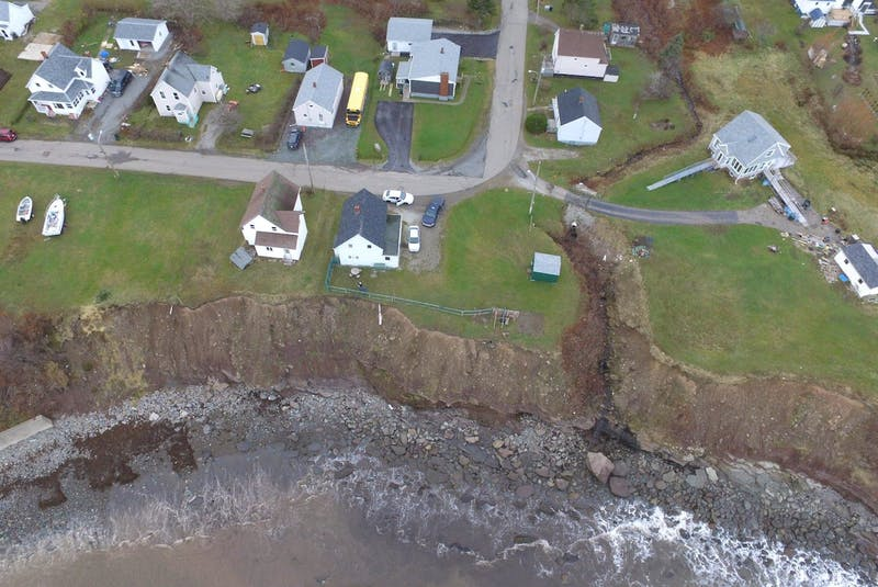 Drone footage of the cliffs along the coast of a section of Port Morien taken by Jeff McNeil. Contributed/Jeff McNeil