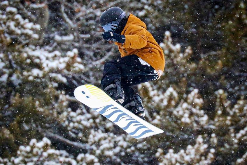 Good times in the large terrain park last weekend at Lake Louise Ski Resort. Al Charest / Postmedia