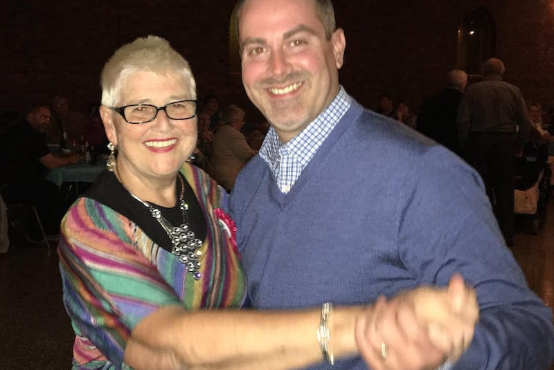 Jonathan Galgay dances with his mother, the late Frances Galgay. CONTRIBUTED - Contributed