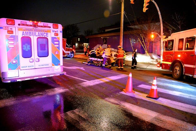 The Forbes Street, St. John's, accident scene where Frances Galgay was killed in February. TELEGRAM FILE PHOTO - Keith Gosse
