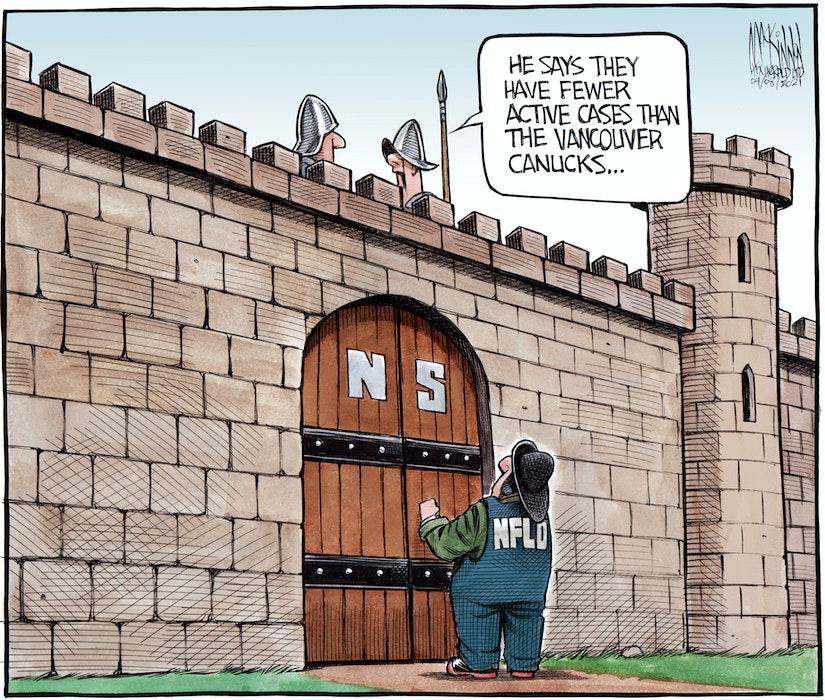 Bruce MacKinnon's cartoon for April 8, 2021. - Bruce MacKinnon