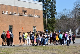 "Students walked out of West Kings District High School in Auburn on Thursday afternoon in support of a female student who says she was suspended after bringing to light a shirt a male student was wearing which included the words 'Tis the season to be rapey."" - Ashley Thompson"
