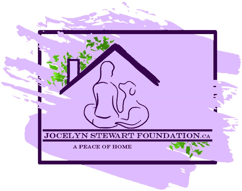 The logo for the Jocelyn Stewart Foundation. The splash of purple is meant to represent that life is messy and doesn't always fit in a perfect box.  - Saltwire network