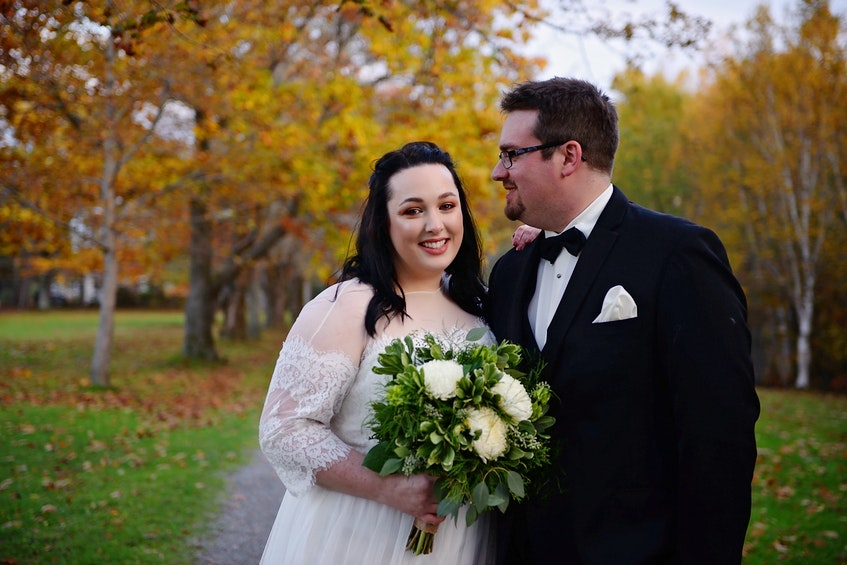 Jessica (MacNeil) Grosset and her husband Tyler on their wedding day in 2020. The couple has been together for seven years and had hoped to start a family five years ago. CONTRIBUTED