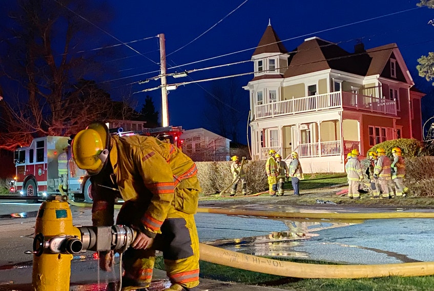 A fire at 39 Brunswick St. in Yarmouth, on the evening of April 7, was extinguished by firefighters. No one was home at the time of the fire. CARLA ALLEN*TRICOUNTY VANGUARD