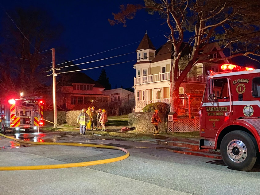 A fire at 39 Brunswick St. in Yarmouth on the evening of April 7 was extinguished by firefighters. No one was home at the time of the fire. CARLA ALLEN*TRICOUNTY VANGUARD - Carla Allen