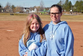 Rhaina Dykeman and her mother, Sherri Dykeman. The pair are looking forward to the return of Canadian Girls Baseball after a memorable first season two years ago.