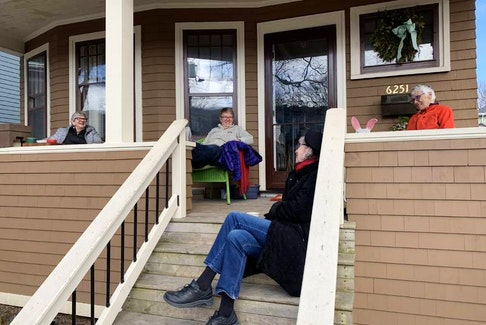 Every morning, pretty much since the pandemic hit, Susan Marmaroff, Lesley Griffiths, Kathy Moggridge and Kit Waters have met on the porch of Marmadoff's home on Duncan Street in Halifax.