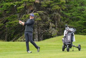 Golfers can expect to be back on the greens at Glendenning Golf Course in late April or the first week of May. Pictured is Michael Simms competing at the 2019 Newfoundland and Labrador Golf Association junior boys championship, an event he won. — Telegram file photo