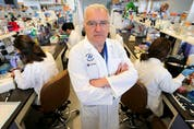 Dr. John Bell poses for a photo in his lab at the Ottawa Hospital Research Institute Wednesday July 13, 2016.