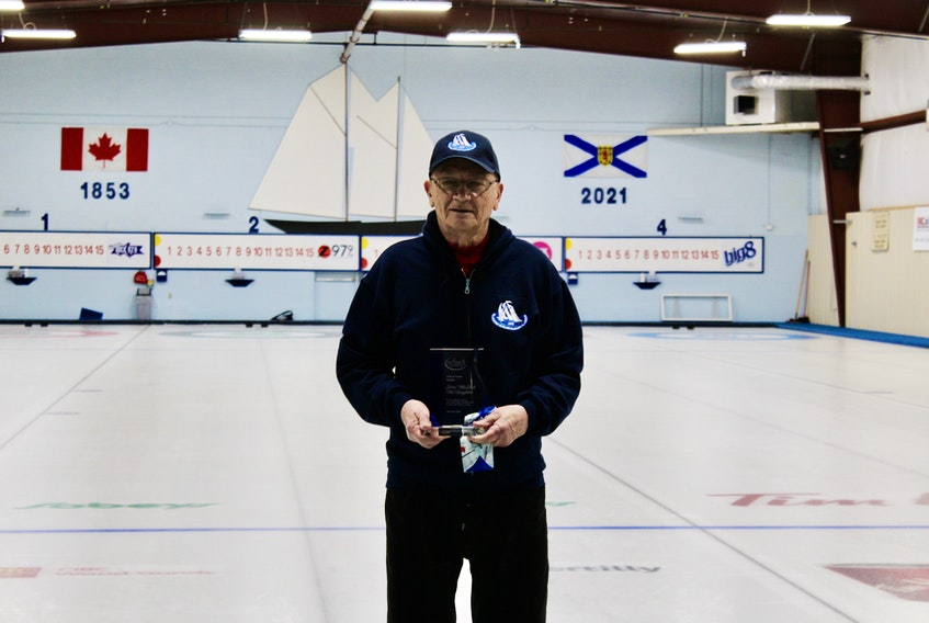 "John ""McStick"" McNaughton was inducted into the Nova Scotia Stick Curling Hall of Fame in a ceremony at New Glasgow's Bluenose Curling Club."