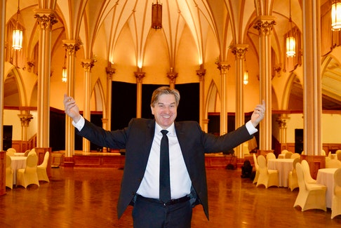"""Sydney businessman Kevin Colford is happy to launch his latest venture, Sacred Heart Downtown on April 20 with """"Here Comes the Sun: Dinner and a Show."""" Those attending will get to see a live theatre production and be served a multi-course meal. ELIZABETH PATTERSON • CAPE BRETON POST"""