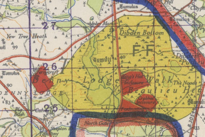 A 1943 New Forest training area map, courtesy of the New Forest Heritage Centre, Lyndhurst, Hampshire. - Contributed
