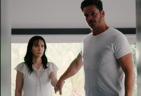 Jill Awbrey and Bart Johnson battle an unseen voice in Held.