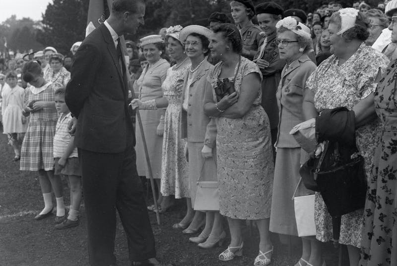 Queen Elizabeth II and Prince Philip on a visit to Halifax in 1959. - Herald file photo