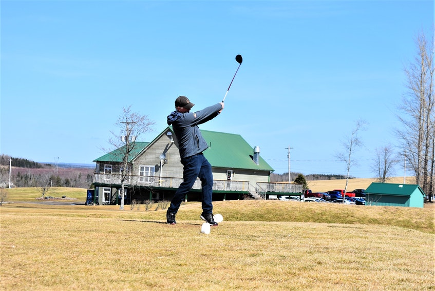 Kenny Black came down from Oxford to enjoy an early season round at Fox Hollow Golf Club in Stewiacke.