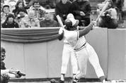 Doug Ault slams the home run that launched the Blue Jays into existence on April 7, 1977. Steve Simmons was lucky to have been there, then the Leafs-Penguins playoff game later that night. MICHAEL PEAKE/TORONTO SUN FILES