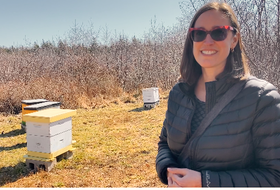 Renee Meuse Bishara and her husband Joseph have been keeping bees for five years in Yarmouth County. CARLA ALLEN • TRICOUNTY VANGUARD