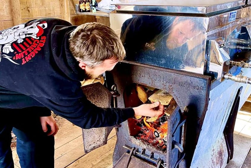 """""""I'm a little worried. Usually by this time I'd have quite a few boils in by now and I'm a bit behind,"""" said Greg Beamish, maple syrup farmer."""
