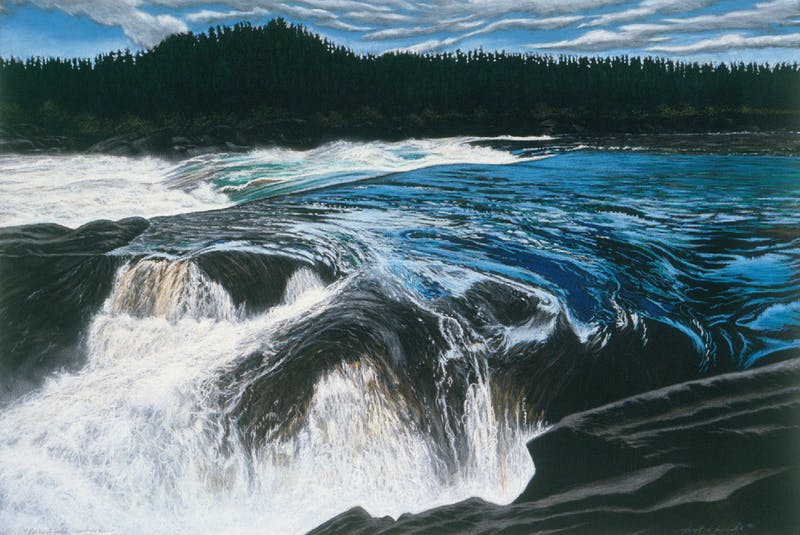 "Scott Goudie's ""Muskrat Falls,"" 1991. — Contributed by The Rooms"
