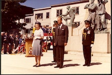 Prince Philip and Queen Elizabeth II at the War Memorial in St. John's in the late 1970s. PHOTO COURTESY THE ROOMS (VA 70-6.3)