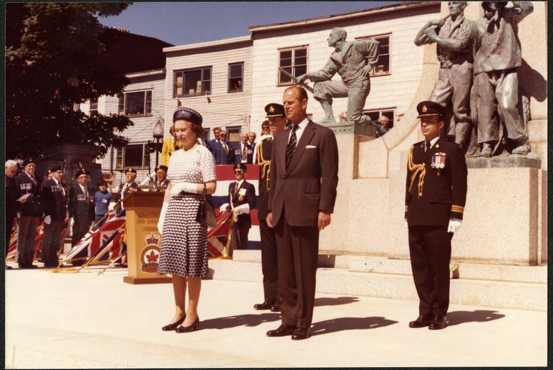 Prince Philip and Queen Elizabeth II at the War Memorial in St. John's in the late 1970s. PHOTO COURTESY THE ROOMS (VA 70-6.3) - Contributed