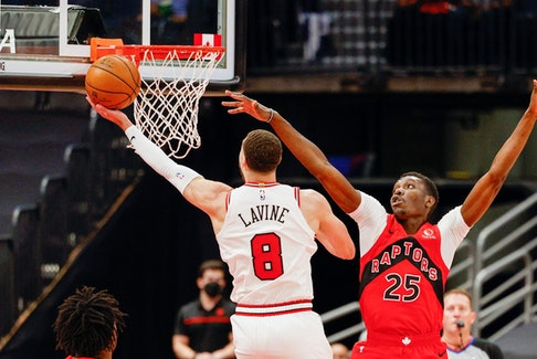 Zach LaVine (left) and Chris Boucher were two of the best players on the floor on Thursday.