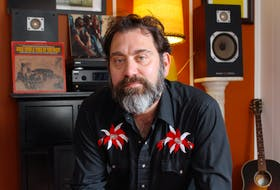 """David Picco is a singer/songwriter living in St. John's. His latest album, """"Live It Down,"""" will get a vinyl release in May. — Andrew Waterman/The Telegram"""