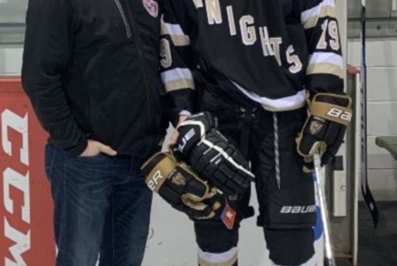 Colby Huggan of the Charlottetown Bulk Carrier Knight, right, was named the top forward in the Island Cup. CONTRIBUTED • TWITTER, CHARLOTTETOWN BULK CARRIER KNIGHTS - Contributed