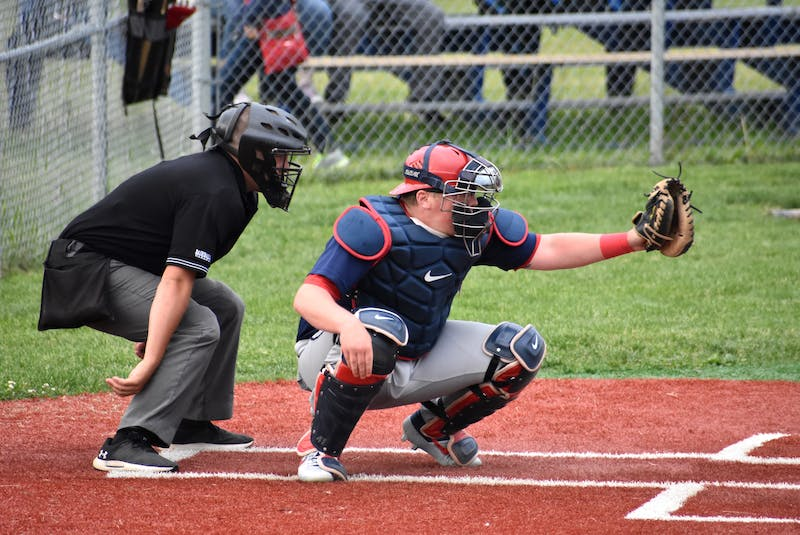 Sydney Sooners catcher Sean Ferguson during a Nova Scotia Senior Baseball League game at the Susan McEachern Memorial Ball Park in Sydney. A decision on whether there will be a senior baseball season has not yet been announced. JEREMY FRASER • CAPE BRETON POST - Jeremy Fraser
