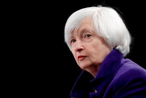U.S. Treasury Secretary Janet Yellen, a former Federal Reserve chair, is urging the adoption of a minimum global corporate tax. REUTERS/Jonathan Ernst/File Photo