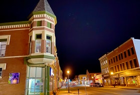 Main Street Yarmouth at night. TINA COMEAU•TRICOUNTY VANGUARD