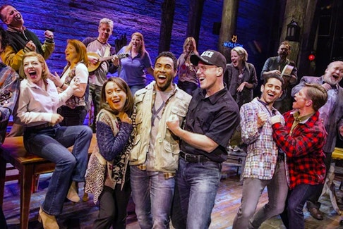 "A photo of a 2019 tour company presentation of ""Come From Away."" A filmed version of the stage show will begin recording at a New York City theatre later this month, with releaser expected in September. — File photo/Mark Murphy/via Postmedia"