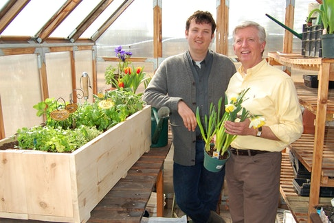 Mark Cullen, right, and Ben Cullen have some tips for stretching their gardening budget.