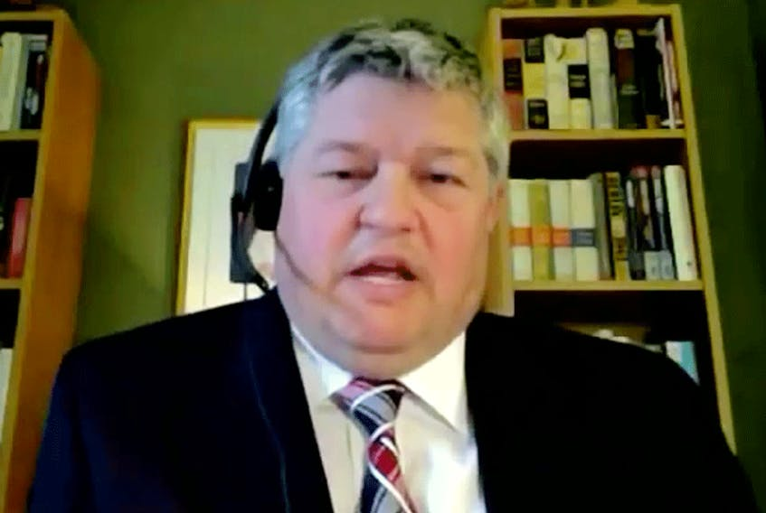 """Conservative MP Scott Aitchison: """"Freedoms aren't taken away in one fell swoop in societies. They're chipped away, bit by bit by bit, all under the cover of, you know, some important protection of Canadians"""""""