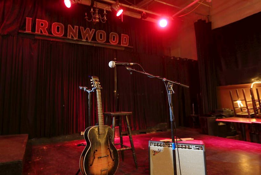 The empty stage at the Ironwood Stage & Grill in Calgary. COVID-19 restrictions have devastated the live music industry.