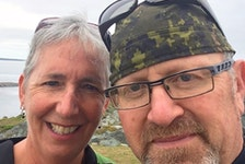 Susan Oickle and Rick Fancy pose for a selfie during happier times in 2019. Fancy pleaded guilty Monday in Bridgewater provincial court to assaulting Oickle last July and falsely accusing her of assault. He received a conditional discharge with 15 months' probation.