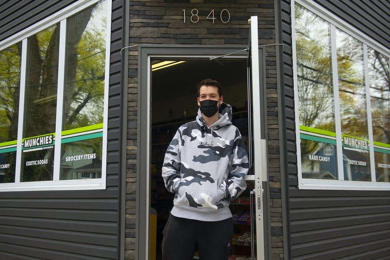 Colin White took over a Kwik-Way convenience store on Vernon St. last year and has converted it into a snack shop called Munchies Convenience. - Ryan Taplin