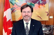 Administrator of the Government of Canada Richard Wagner as he appeared in a video call welcoming Heads of Mission to Canada.