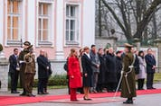 Governor General Julie Payette on a state visit to Estonia in 2019. It is a real timesaver when elected Canadian leaders don't have to do this.