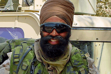 Before being elected as an MP in 2015, Harjit Sajjan spent time overseas as a Canadian military reservist, including tours in Afghanistan, pictured, and Bosnia.