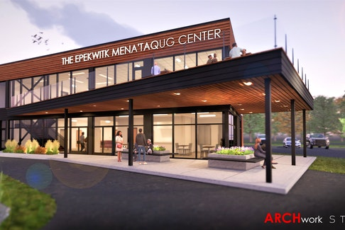 This is a concept photo of the Epekwitk Mena'taqug Centre, to be constructed later this year to improve the cultural and recreational infrastructure of the Scotchfort community.