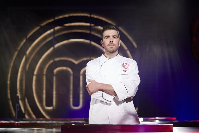 Donning his new MasterChef Canada: Back to Win jacket, Dartmouth's Andy Hay moves on to the final round as one of the last three competitors in next Sunday's grand finale. - CTV/Bell Media