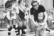 Jules' wife Gabrielle (pictured here with Rideau Hall trick-or-treaters) took up many of her husband's ceremonial duties during his convalescence.