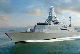 A representation of the BAE Systems Type 26 Global Combat Ship.